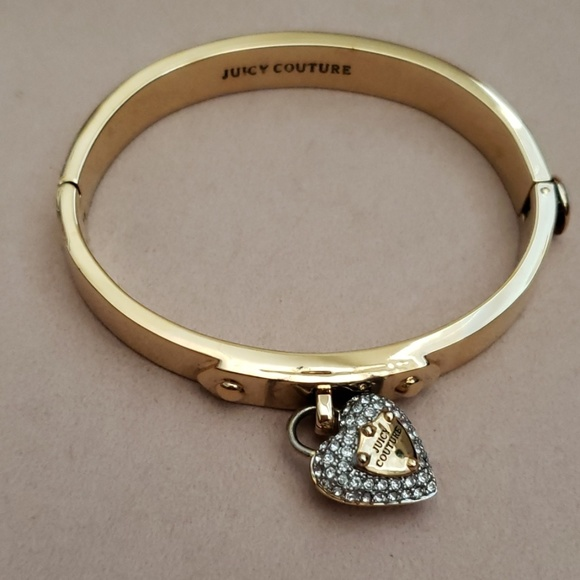 Juicy Couture Jewelry - Juicy Couture pave heart Hinge Bracelet
